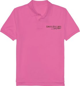 NEON PURPLE POLO SHIRT_DAVID Record with Golden logo Image
