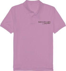 PURPLE POLO SHIRT_DAVID RECORD with Silver logo Image