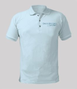 David Record Blue Polo Shirt with blue logo Image