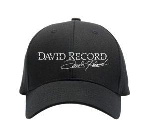 White logo David Record Hat Image