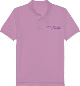 PURPLE POLO SHIRT_DAVID RECORD with blue logo Image
