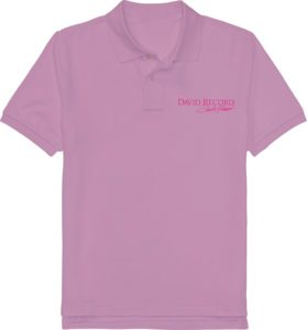 PURPLE POLO SHIRT_DAVID RECORD with Pink logo Image