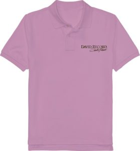 PURPLE POLO SHIRT_DAVID RECORD with Golden logo Image