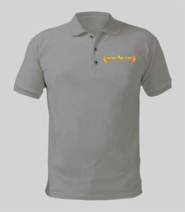 Rise Again Polo Shirt with Yellow logo Image