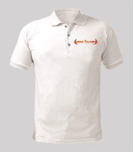Rise Again White Shirt with Orange logo Image