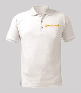 Rise Again White Shirt with Yellow logo Image
